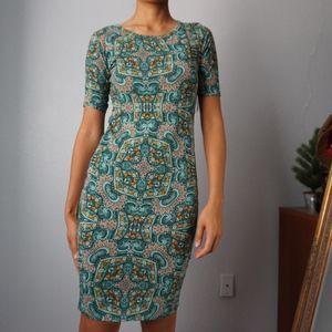 NWTs LuluRoe Julia Dress Green Pattern